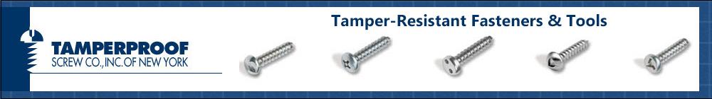 Tamperproof Security Screws and Drivers